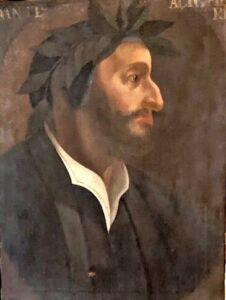 Dante Alighieri con barba