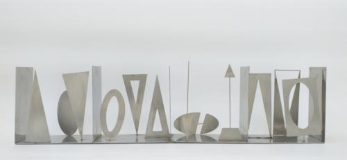 FAUSTO MELOTTI bozzetto per l'opera   Contrappunto 1983 MAC Museo Corrao Gibellina