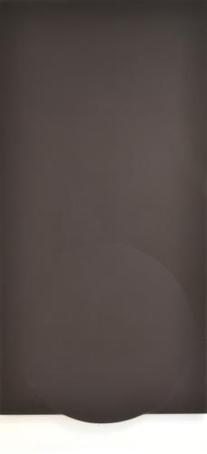 TURI SIMETI  Superficie nera con ellisse 1980  acrilico su tela sagomata  90x170 cm  MAC Museo Corrao Gibellina